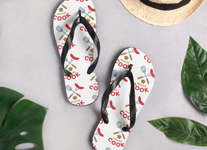 Custom Design Flip Flops to Match the Beach Towel