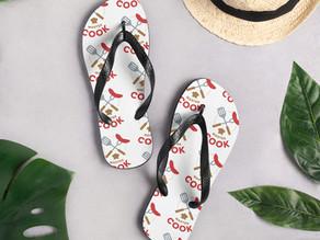 Custom Design Flip Flops to Match the Beach Towel