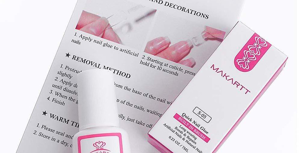 Nail Glue with Built-In Brush (S-05)