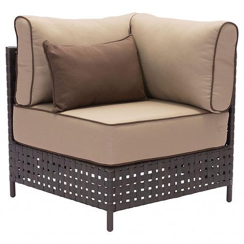 "31.5"" x 31.5"" x 35.4"" Brown & Beige, Sunproof Fabric, Aluminum, Synthetic Weave,"