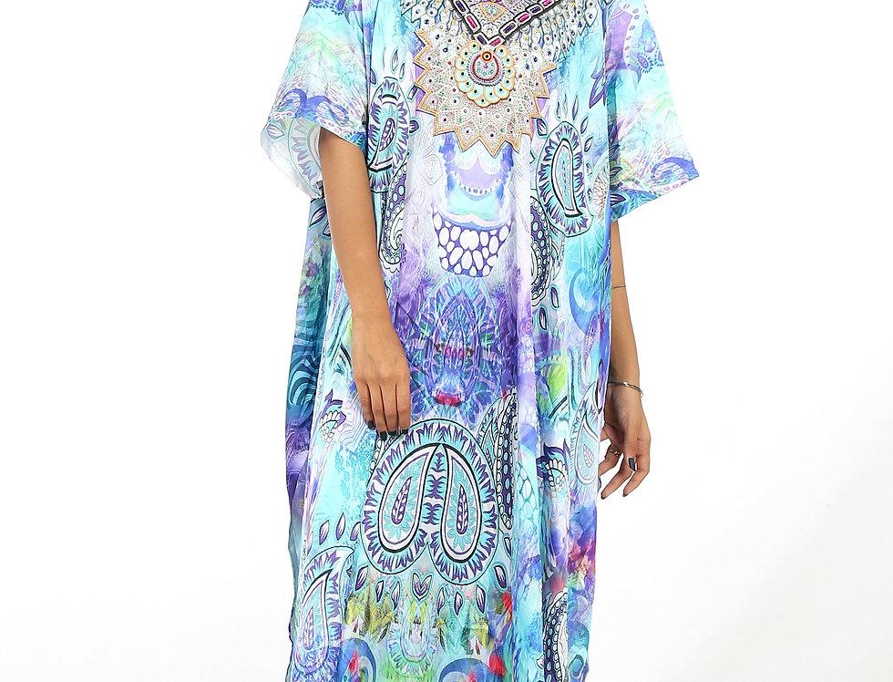 Jeweled Full Length Kaftan/Long Kaftans/Luxury wear