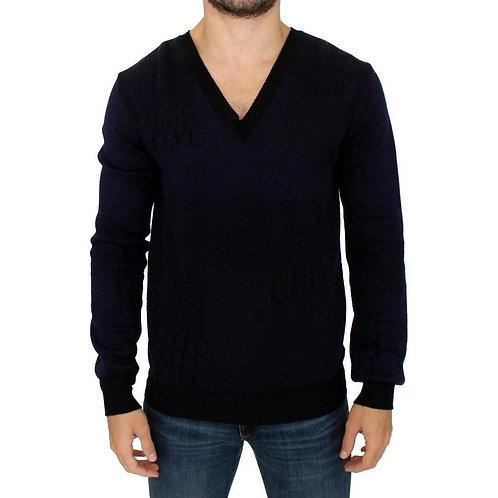 Blue black sweater