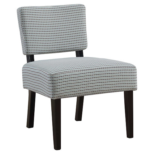 """27.5"""" x 22.75"""" x 31.5"""" Blue Grey Foam Accent Chair with Solid Wood Frame"""