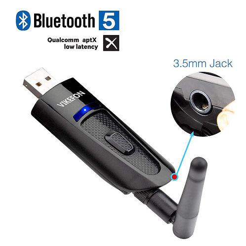 USB Bluetooth 5.0 Transmitter TV PC Driver Audio Adapter Dongle Transmitter