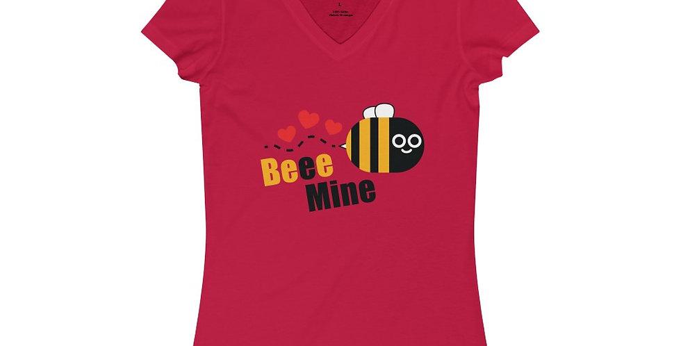 Beeminee Women's Jersey Short Sleeve V-Neck Tee