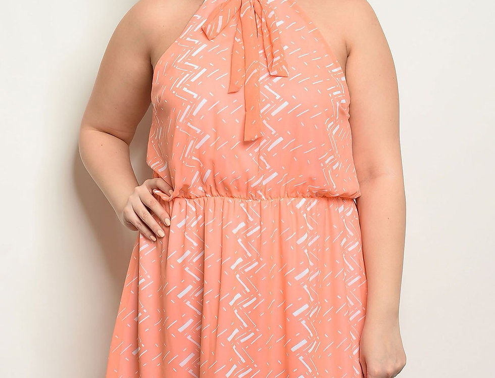 Coral Ivory Plus Size Dress
