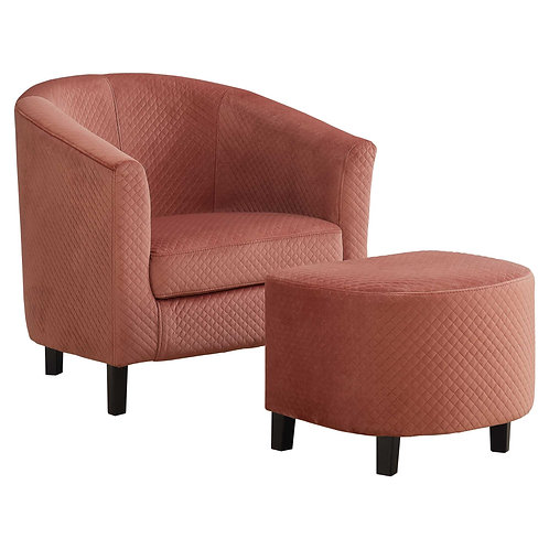 """45'.5"""" x 49"""" x 45'.5"""" Dusty Rose, Foam, Solid Wood, Polyester - 2pcs Accent Chai"""