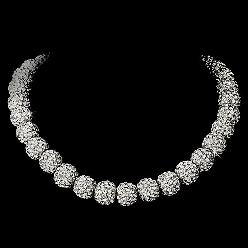 Necklace 1001 Silver Clear.