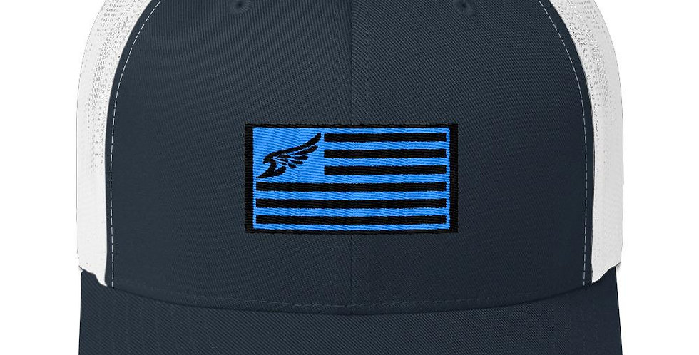 Find Your Coast Allegiance Flag Vintage Trucker Hat