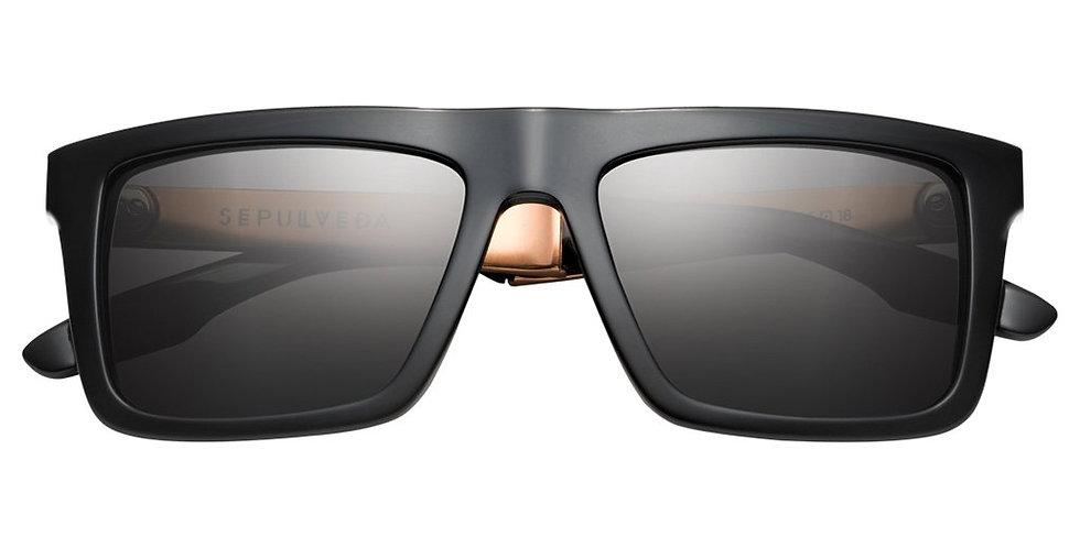 Sepulveda: Polished Black & Copper / Grey Lens