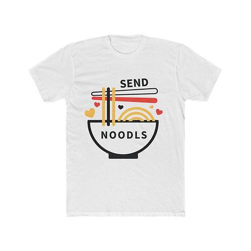 Send Noodles Men's Cotton Crew Tee
