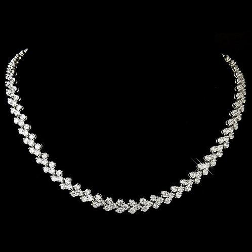 Wonderful Silver Clear CZ Follow Me Necklace 2026