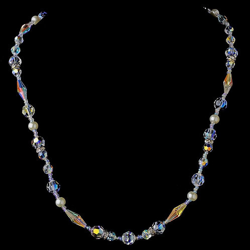 Stunning Swarovski Crystal Necklace 8209 Silver A
