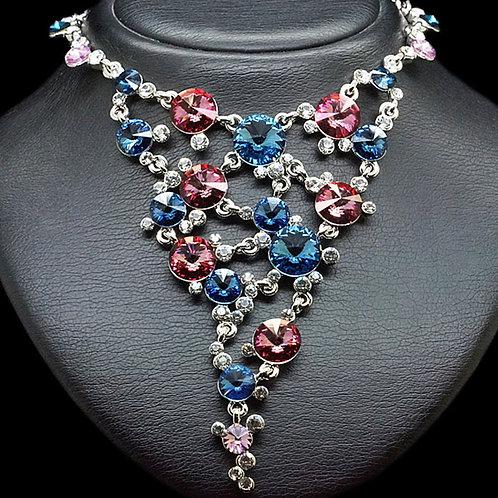 "Necklace ""Vortex IV"" with Crystals From Swarovski™"