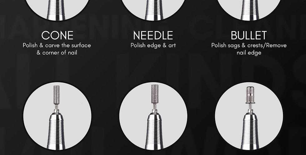 """Stefy"" Handheld Nail Drill in Black Metal"