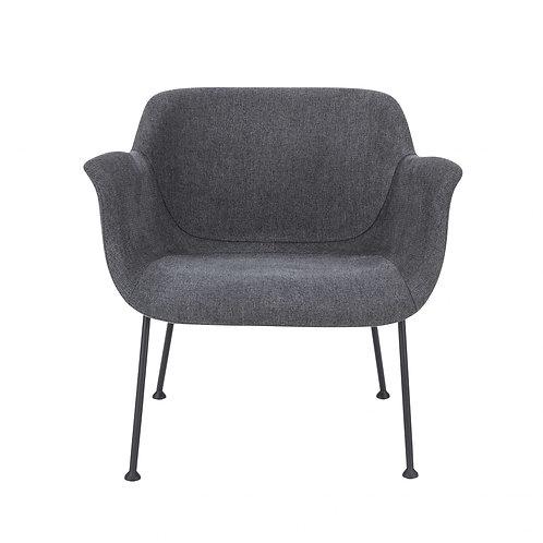 "30.32"" X 25.2"" X 28.75"" Dark Gray Fabric Lounge Chair"