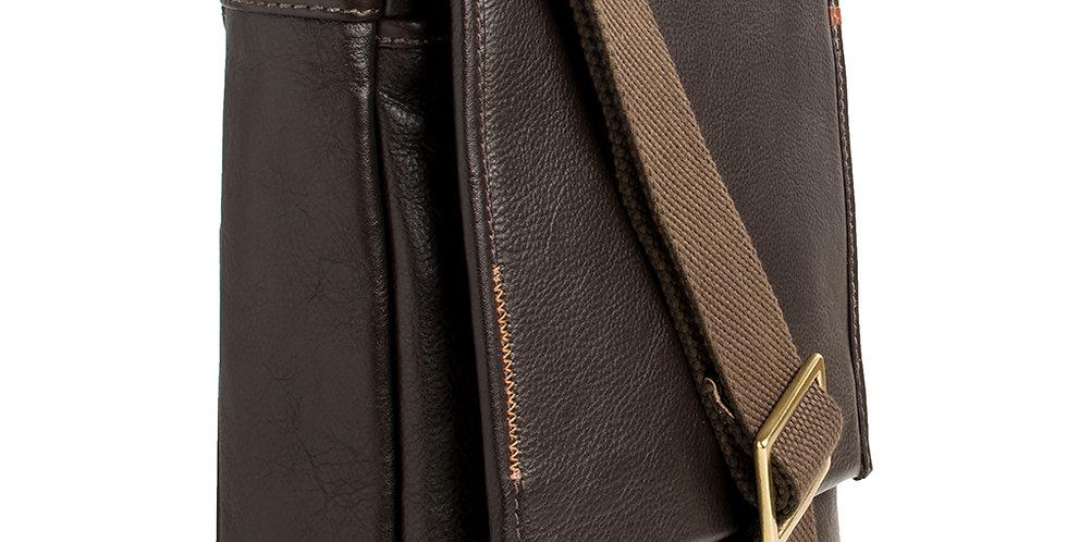 Seattle Unisex Leather Crossbody Messenger