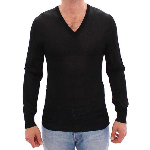 V-neck Rayon Sweater