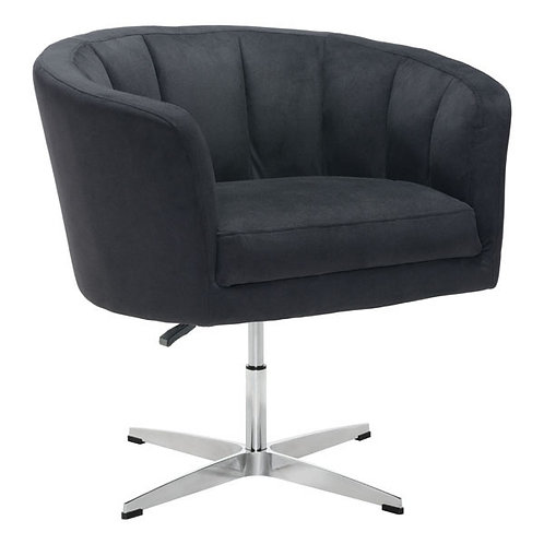 "32.1"" X 26"" X 31.5"" Black Cashmere Occasional Chair"