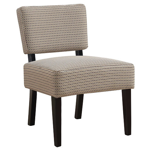 """27'.5"""" x 22'.75"""" x 31'.5"""" Brown, Foam, Solid Wood, Polyester - Accent Chair"""