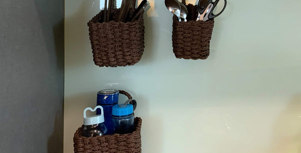Woven Wall Hanging Baskets for Storage and Plant Pot Cover
