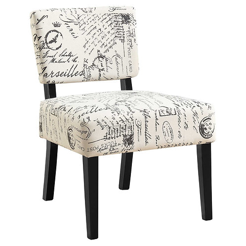 """27.5"""" x 22.75"""" x 31.5"""" Beige Cotton Linen Foam Accent Chair with Solid Wood Fram"""