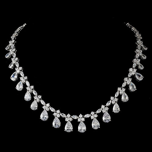 Silver Clear Necklace 2404.