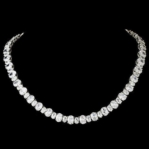 Pure Perfection Cubic Zirconia Necklace N 2403 Silver