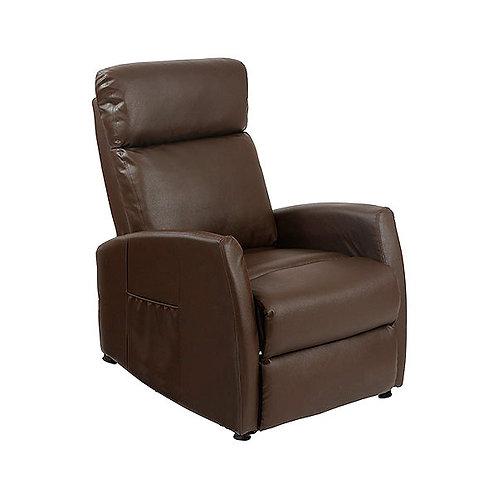 Brown Massaging Push Back Recliner Cecotec 6182.