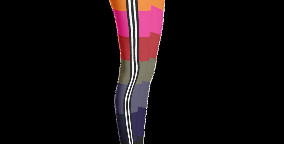 Rainbow-Chic Stripe Leggings