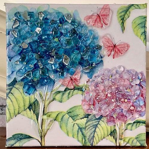 Hydrangea and Butterflies