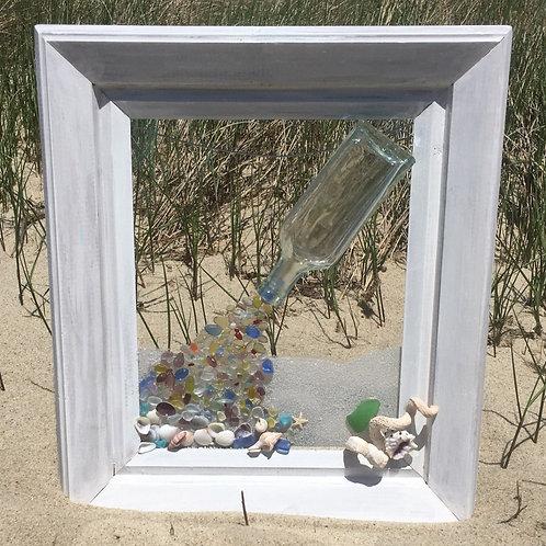 Sea Glass Bottle Spill