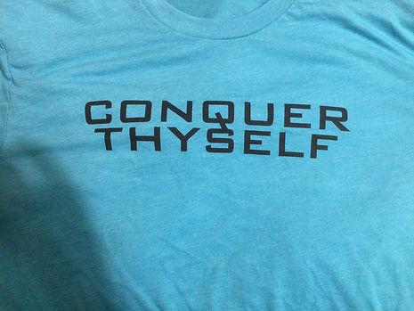 Bair Gutsman t shirt.  Conquer Thyself