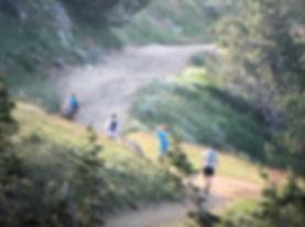 Runners at top of Bair Gutsman