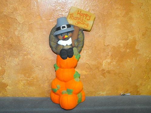 Turkey on Pumpkin Stack