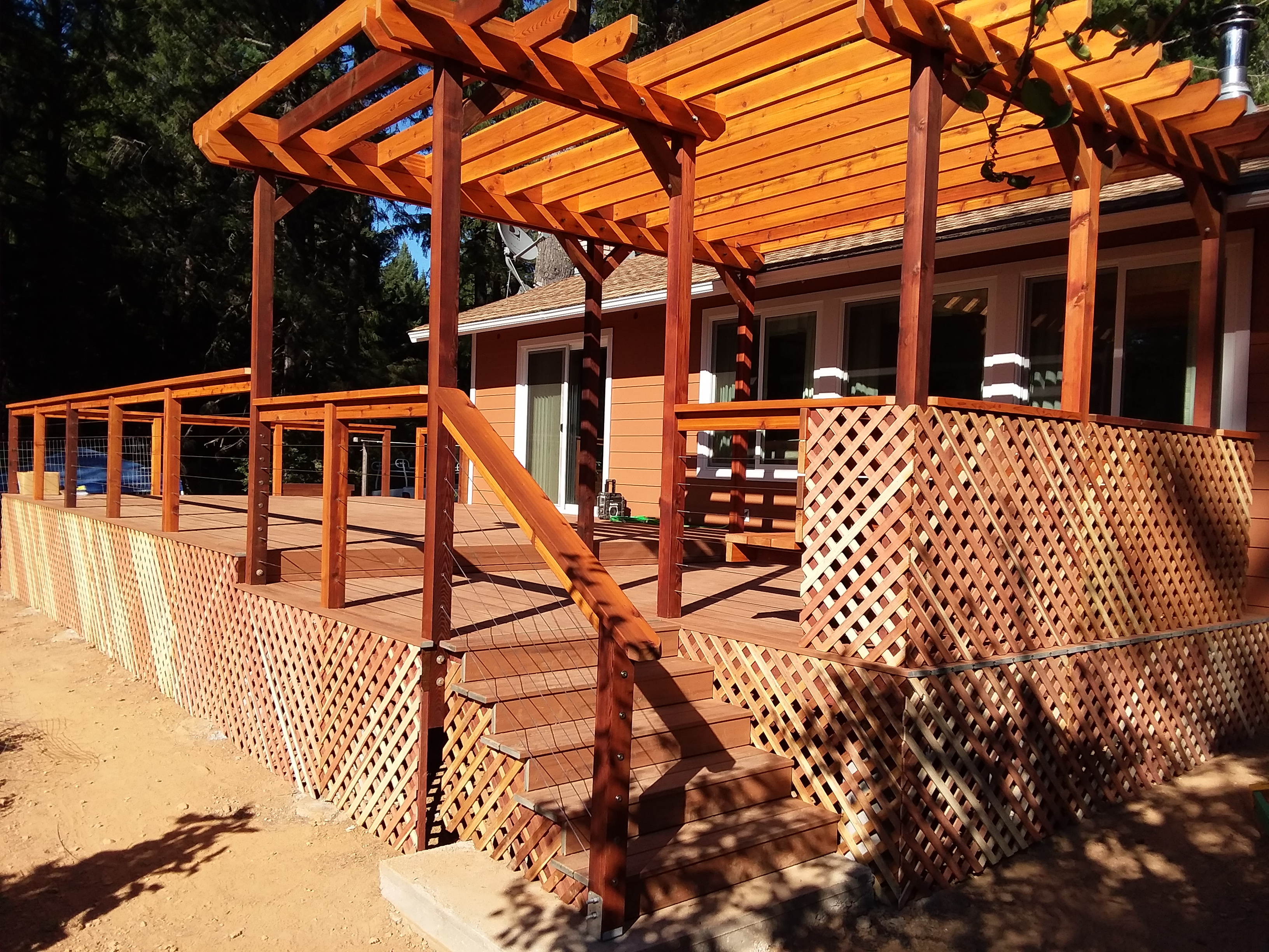 Trex and western red cedar deck