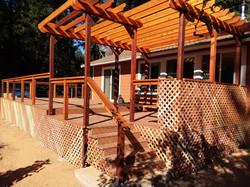 Trex and western red cedar deck