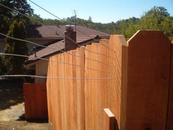 Redwood fence