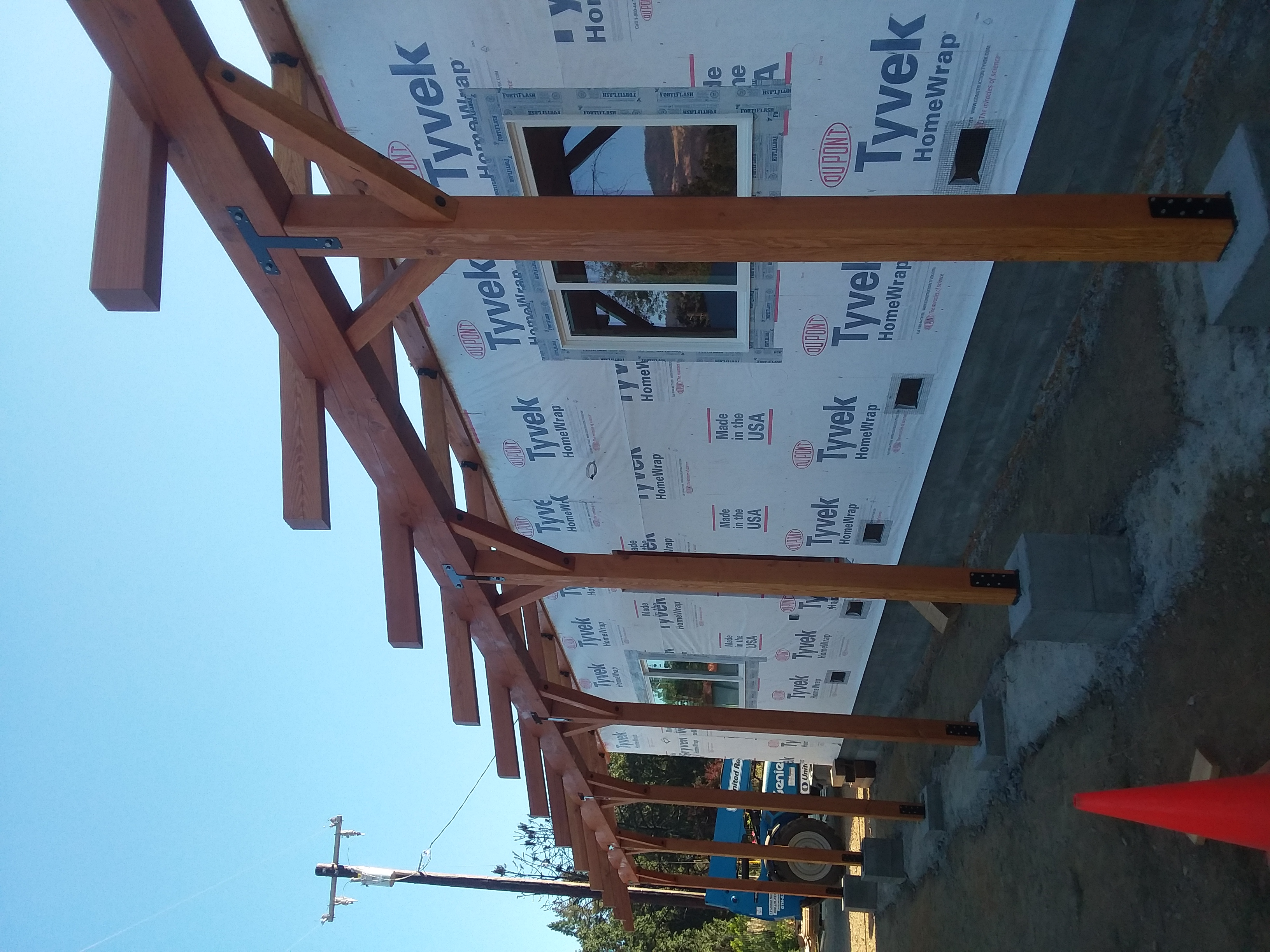 New home construction, Beam placement