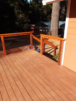 Custom Deck, Western Red Ceder Pergola_hand rail and Trex  Decking