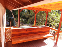 Custom bench and planter box