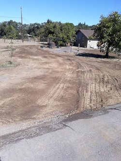 Road widening, Dirt work