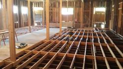 Building restoration, floor framing