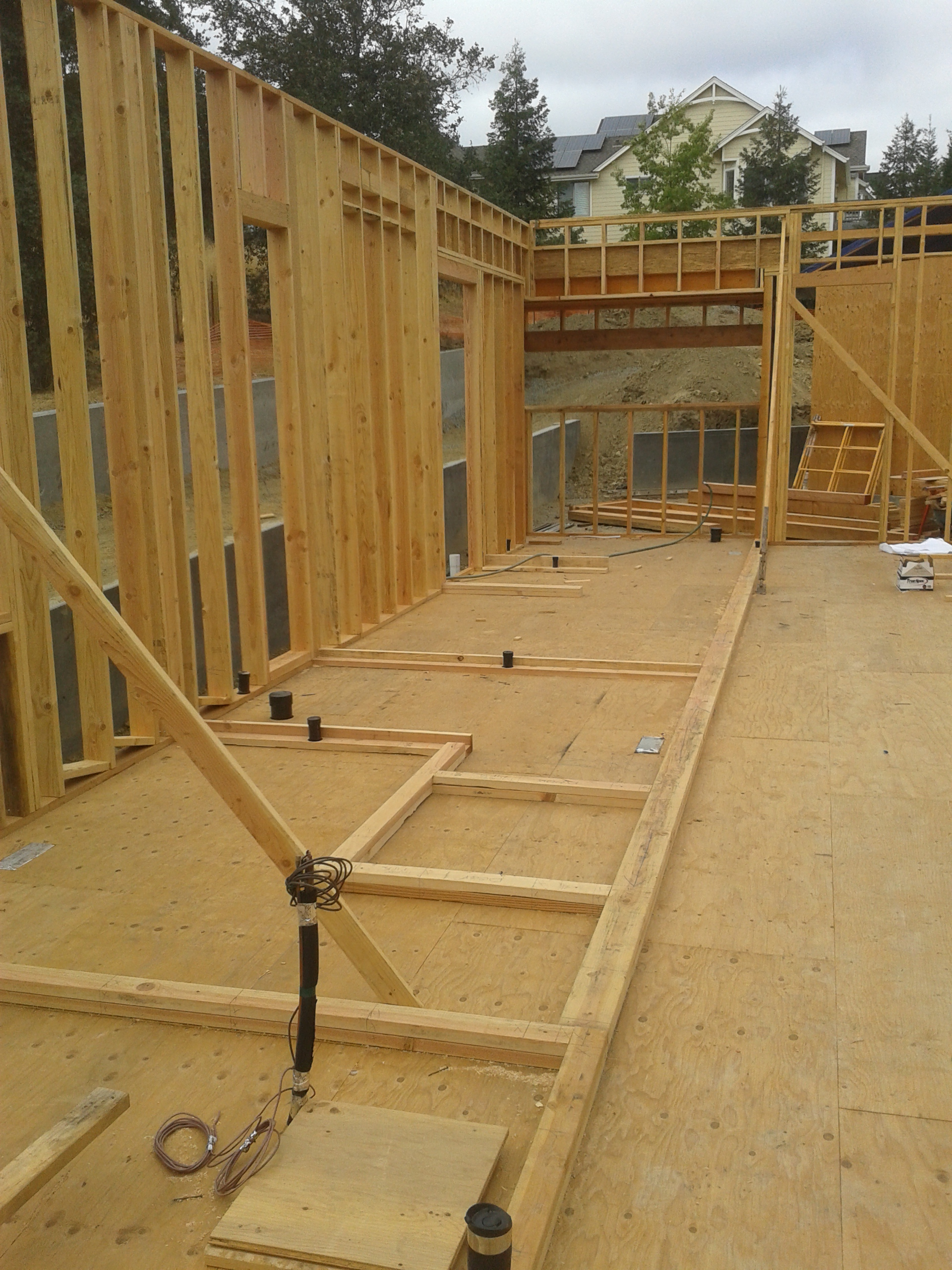 New construction, wall framing