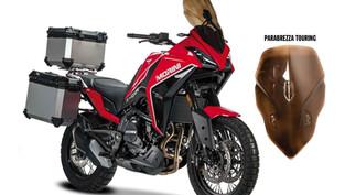 Vysoké cestovní plexi pro motocykl Moto Morini X-cape