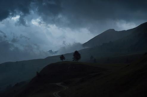 Le col de Larche balayé par l'orage