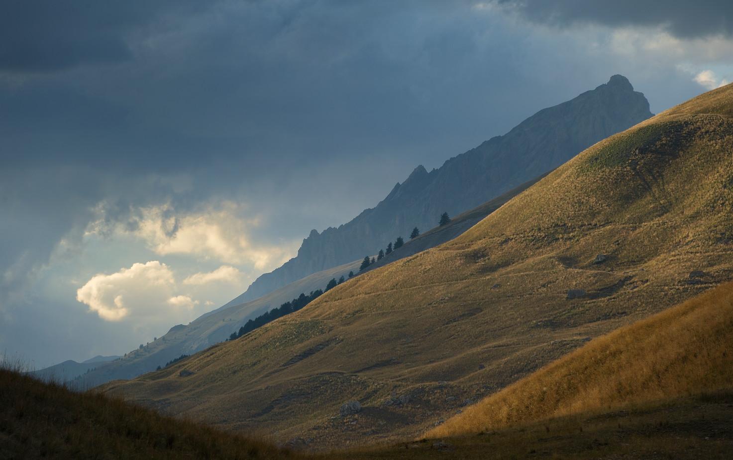 paysage col de Larche