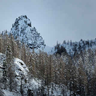 Vallée de la Gordolasque en hiver.