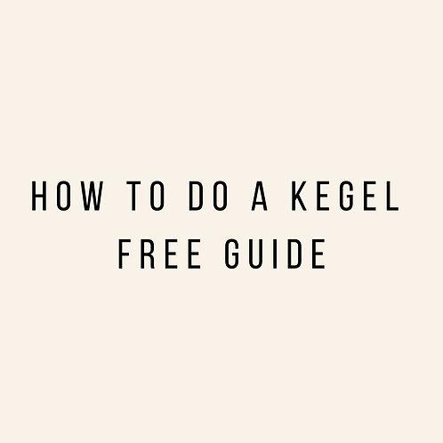 How to do a Kegel