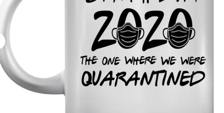 11 oz. Quarantined White Ceramic Mug